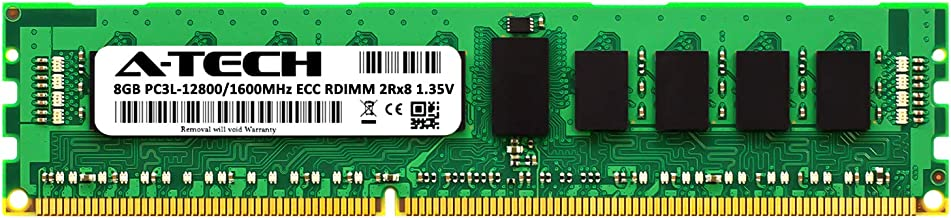 A-Tech 8GB for ASUS KGPE-D16 (1 x 8GB) PC3-12800 (DDR3-1600) ECC Registered RDIMM 240-Pin 2Rx8 1.35V Server Memory RAM