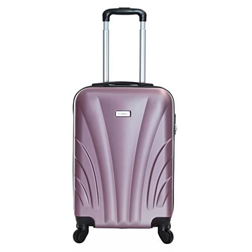 4751a25d4 Slimbridge Ferro Super Lightweight ABS Hard Shell Travel Cabin Carry On Hand  Luggage Suitcase with 4
