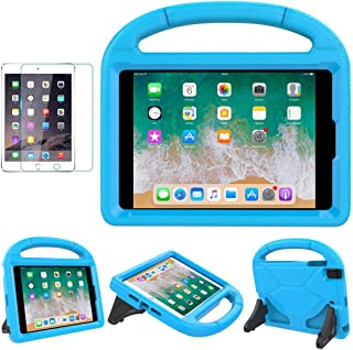 iPad Mini 1/2/3/4 Case for Kids, SUPLIK Shockproof Protective Handle Bumper Stand Cover with Kickstands and Screen Protector for Apple 7.9 inch iPad Mini 1st,2nd,3rd,4th Generation, Blue