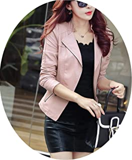 Leather Jacket Women Slim Plus Size Women Leather Clothing Coat Short Coat