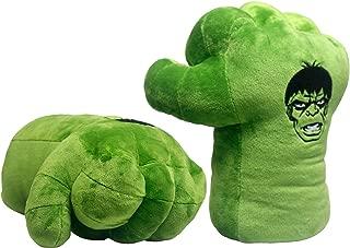 GOOSEN78 The Hulk Boxing Gloves Smash Hands Fists Incredible Hulk Soft Plush Toys Cosplay Superhero Costume Gloves, Birthday Gifts for Kids, Teens, Girls Boys. (1 Pair, Green)