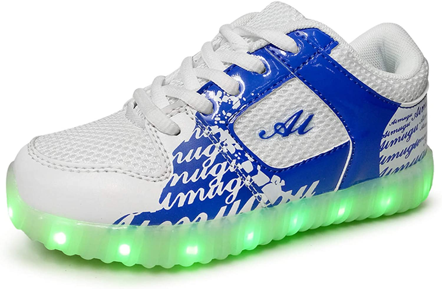 Led Luminous shoes for Boys Girls Fashion Light Up Casual Kids 7 colors USB Charge New Simulation Sole Gl