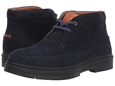 Stacy Adams Amherst Moc Toe Chukka Boot (Navy Suede) Men