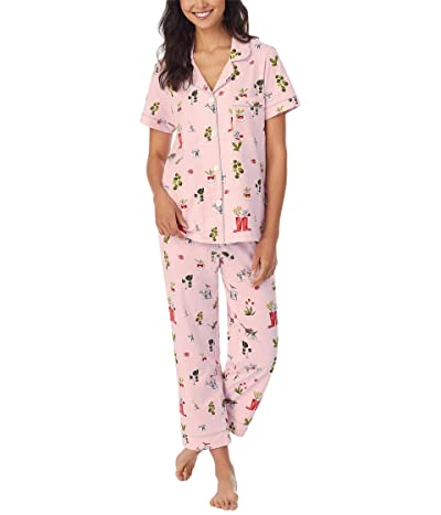 BedHead Pajamas Short Sleeve Classic Cropped PJ Set