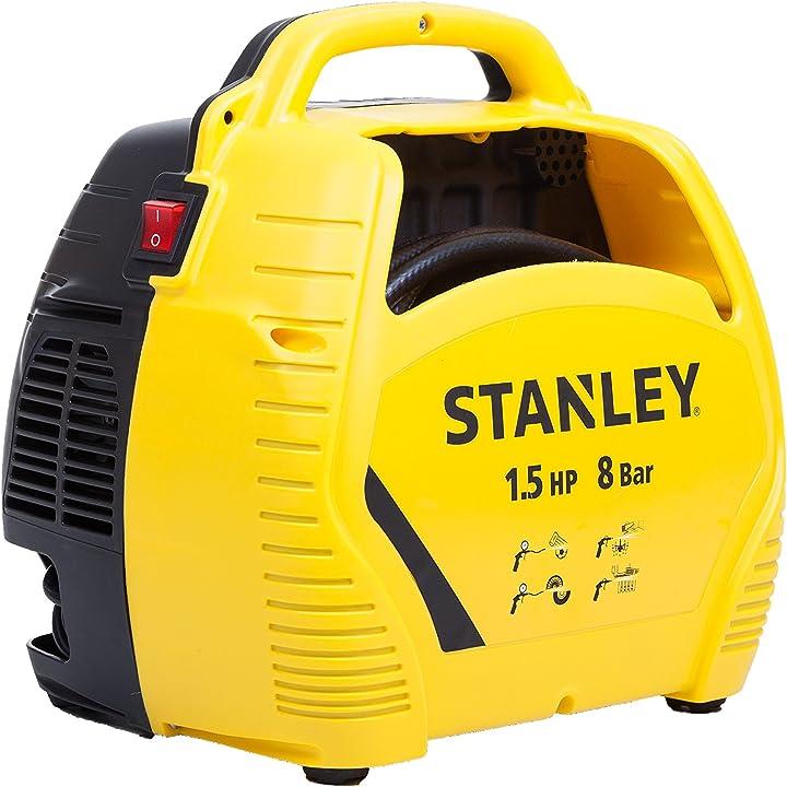 Compressore d`aria stanley con accessori 1.5 hp fino a 8 bar 1100 w 230 v rumorosità 97 db giallo/nero B00R4VTVX0