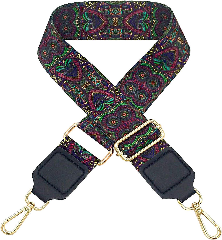 TININNA 125cm Adjustable Replacement Shoulder Bag Strap 5cm Wide Ethnic Style Bag Belt Shoulder Straps Crossbody Handbag for Women Bags Diy Accessories