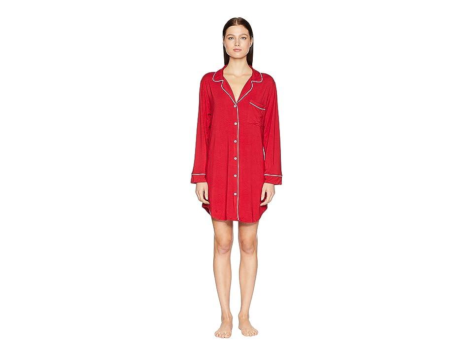 Eberjey Gisele The Boxed Sleepshirt (Cherry/Ivory) Women