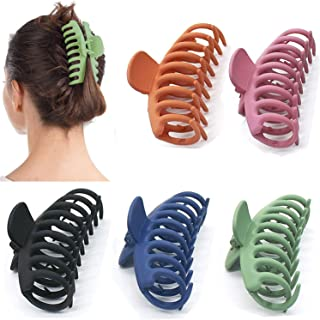 5 Pcs Big Hair Claw Clips, Proxima Direct Nonslip Hair Claw Banana Matte Plastic Girls Hair Claw Clips Jaw, Strong Hold fo...