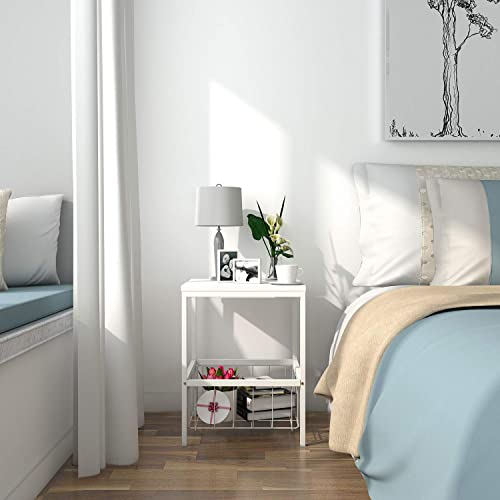 Wire Nightstand | Wire Side Table Amazon Com