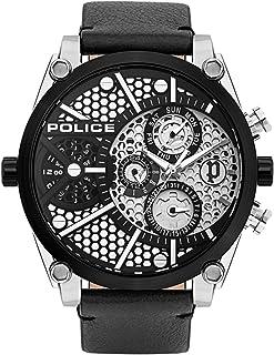 Police Watches Vigor Mens Analog Quartz Watch with Leather Bracelet PL.15381JSTB-04A