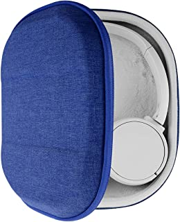 Geekria UltraShell - Funda compatible con auriculares Sony WH-CH510, WH-CH500, WH-XB900N, WH-1000XM4, WH-1000XM3, funda protectora de repuesto para viaje, con almacenamiento de cables, color azul
