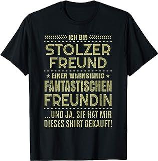Stolzer Freund Sprüche Fun Freundin Partner Geschenk Herren T-Shirt