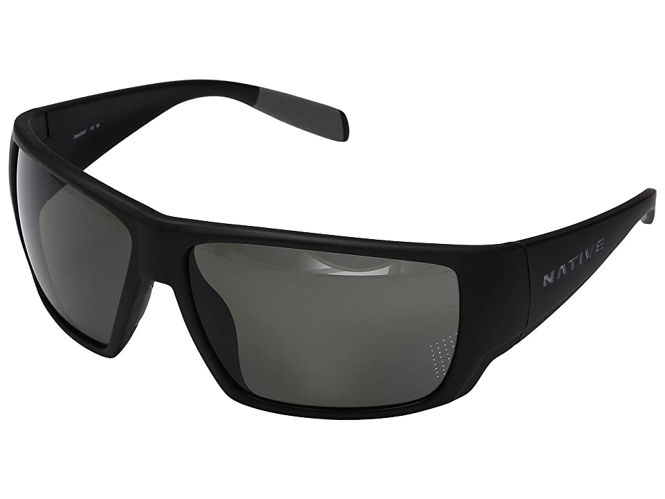 Native Eyewear Sightcaster (Matte Black) Sport Sunglasses