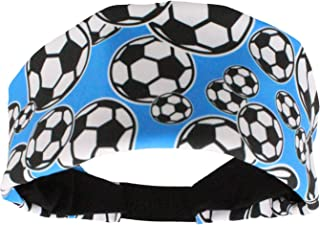 MadSportsStuff Crazy Soccer Headband with Soccer Ball Logos