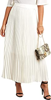 Pleated Maxi Skirt with Zipper Closure 80211311 For Women Sassafras by Styli
