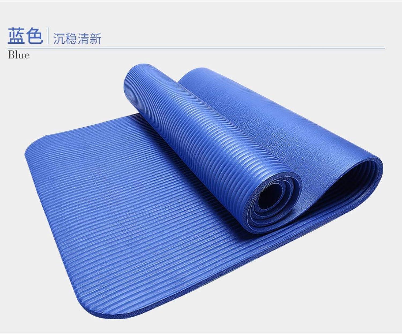 TSANG Yoga Matte 185Cm 10Mm Verdickte Nbr Yoga-Matte Verbreiterte Multifunktionssport- Und Eignungs-Schutzauflagen Pilates-Matte rutschfeste Gymnastik-Matte