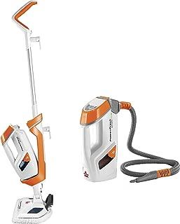 Bissell Pet Steam Mop, Steamer, Tile, Bathroom, Hard Wood Floor Cleaner, 1544A, Orange Powerfresh Lift-Off