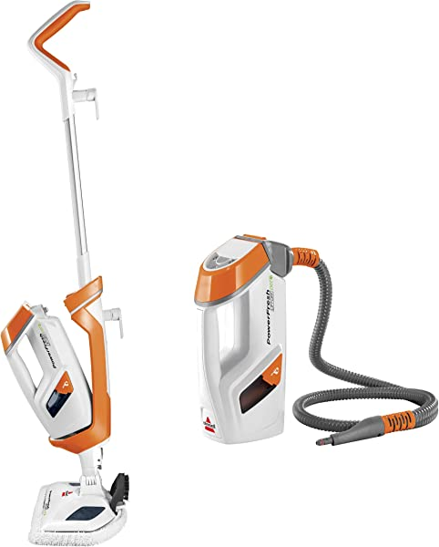 Bissell PowerFresh Lift Off Pet Steam Mop Steamer Tile Bathroom Hard Wood Floor Cleaner 1544A Orange