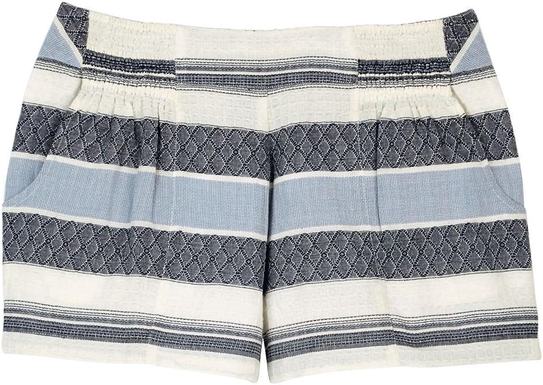 Mud Pie Womens Savannah Stripe Short bluee & White