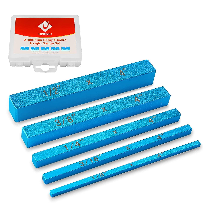 Uprimu Set Up Block Height Gauges Aluminum Piece Special sale item 5 Precision Low price