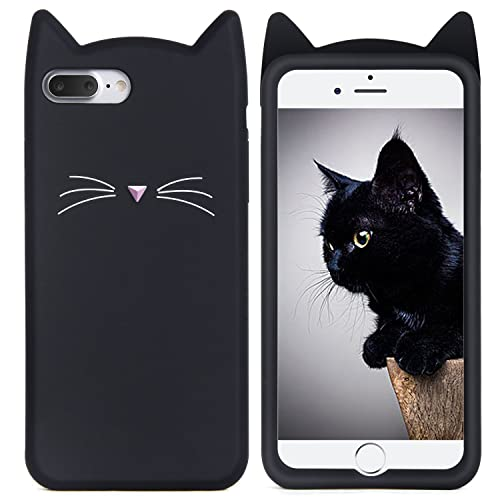 iPhone 8 Plus Case, iPhone 7 Plus Silicone Case, Imikoko™ Slim-Fit Anti-Scratch Shock Proof Soft Silicone Case With Cute Cat Pattern for Apple iPhone 7 Plus/ 8 Plus (5.5 inch)