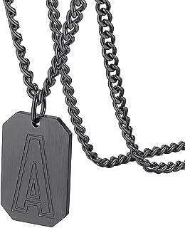 GOLDCHIC JEWELRY Initial Necklace Boys,Stainless Steel Baseball/Football/Basketball SablonUp Letter Chain Men Monogram Pen...