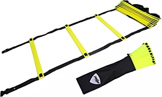 Pepup Sports Super Flat 12 Rungs Adjustable Speed Agility Ladder with Free Carry Bag, 20'