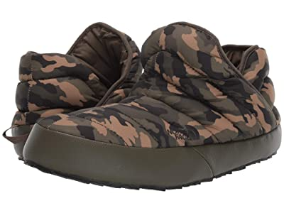 The North Face ThermoBall Traction Bootie (New Taupe Green/Burnt Olive Green Woodland Camo Print) Men