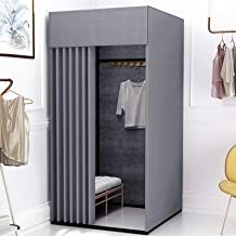 YXYECEIPENO Camp Toilet Fitting Room Door Curtain Floor Dressing Room Dressing Room Curtain Kit and Metal Frame Shelf Fold...