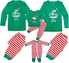 Dad Mom Baby Kid Family Matching Christmas Pajamas Sleepwear Homewear Set