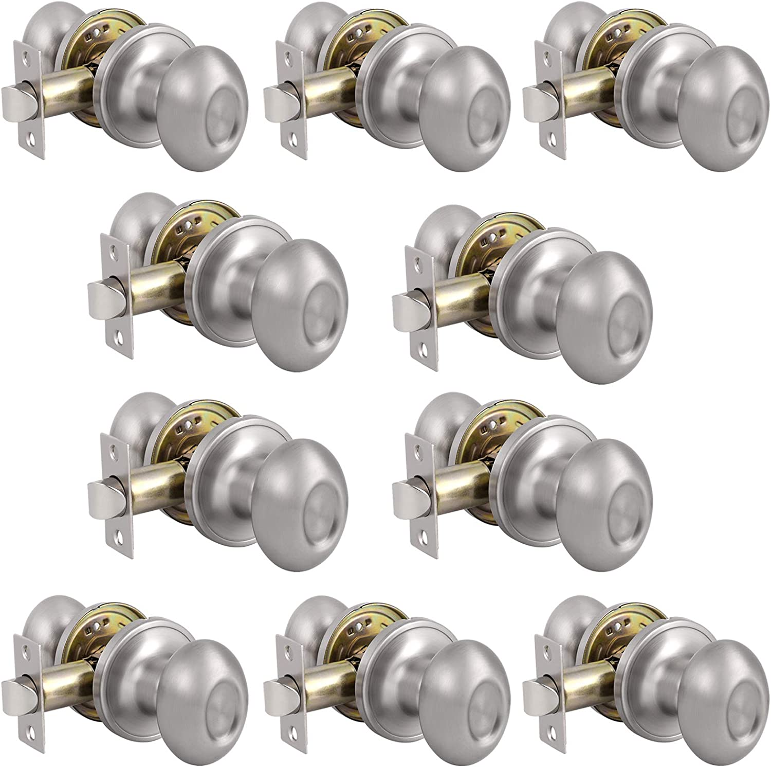 Probrico Egg Style Hall Brand new and Closet Ni Brushed Passage Special sale item Door Knobs