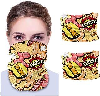 Hund sömlös ansiktsmask bandanas halsdamask för män och kvinnor
