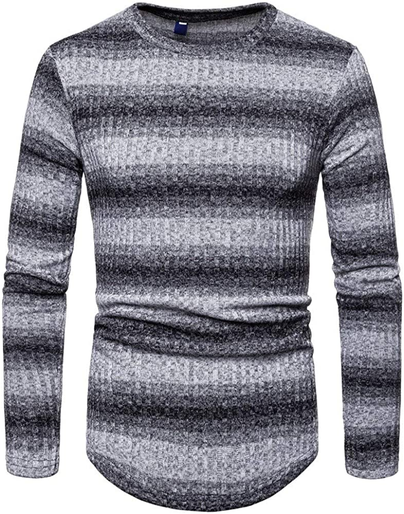 MODOQO Men's O-Neck Slim Fit Knitted Sweater Casual Warm Soft Pullover Outwear