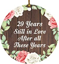 29th Anniversary 29 Years Still in Love After These Years - Circle Wood Ornament A Christmas Tree Hanging Decor - for Wife...