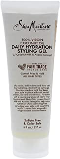 Shea Moisture 100 Percent Virgin Coconut Oil Daily Hydration Styling Gel for Unisex,  8 Ounce