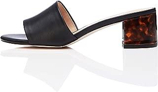 Amazon Brand - find. Women's Block Heel Mule Open-Toe Sandals