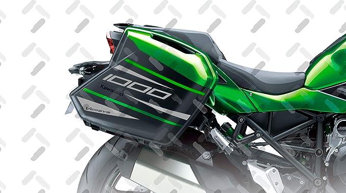 Kit 2 Sticker Cases SeitenfÄlle Kompatibel Mit Kawasaki Versys 1000 2015 2020 Vversys 002 Black Auto
