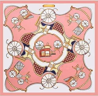 Happy-L New Classic Pattern Silk Scarf Advanced Satin Scarf Decorative Scarf (Color : 02)