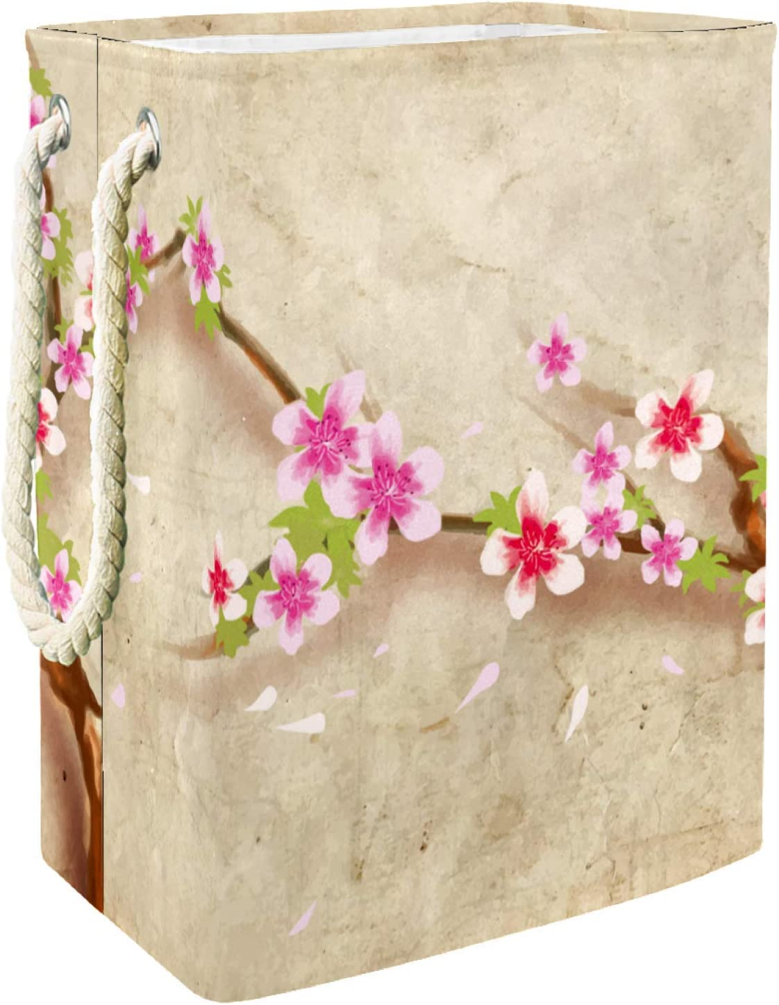 Storage Basket Collapsible Tampa Mall Japanese Peach Blossom Dirty Selling rankings Clothes