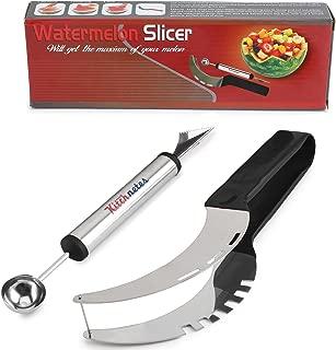 Premium Watermelon Slicer Set Stainless Fruit Carving Kitchen Utensil Kit –..