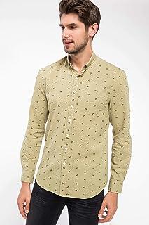 DeFacto Tek Cep Detaylı Slim Fit Gömlek