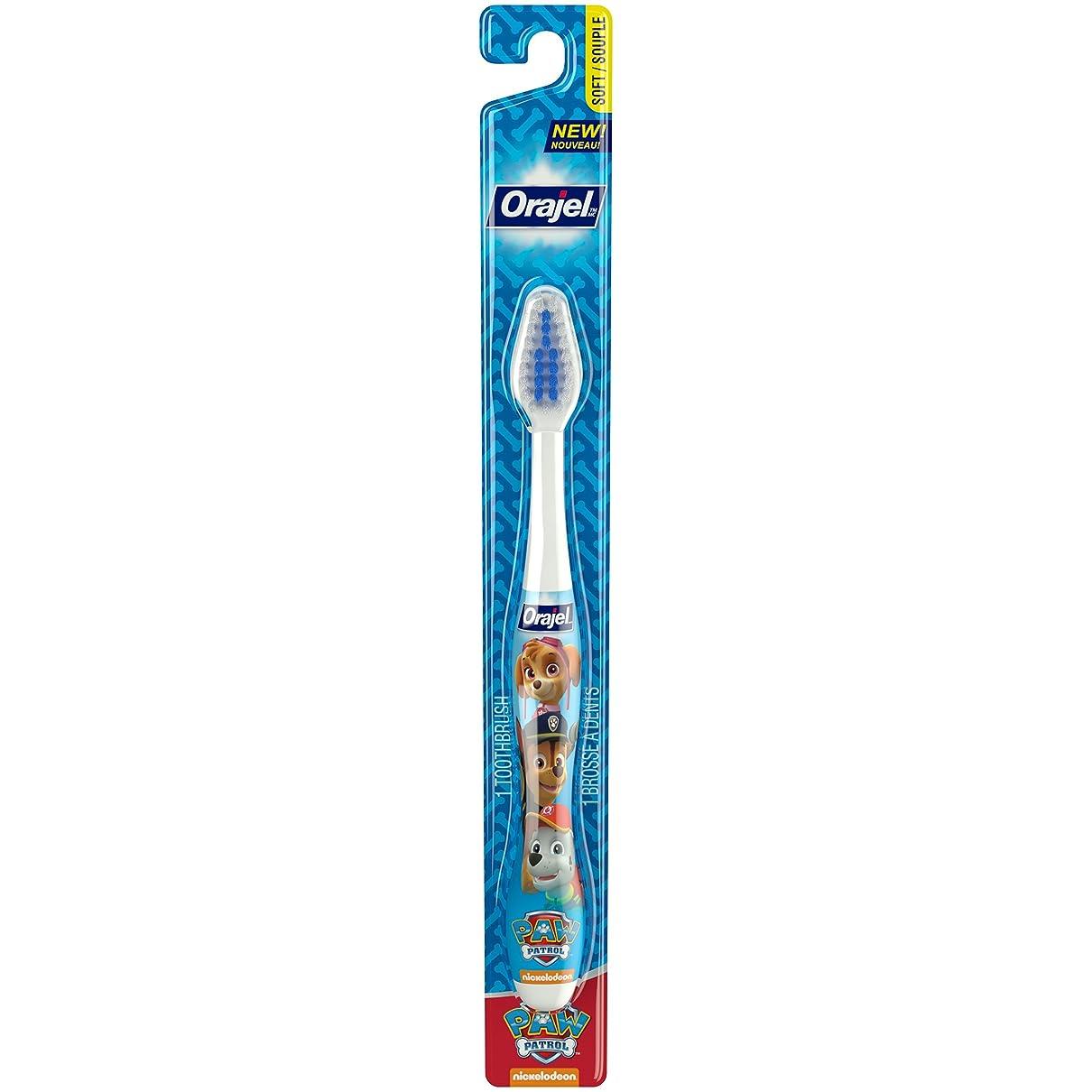 地震広々手がかりOrajel ポウパトロール幼児の歯ブラシ