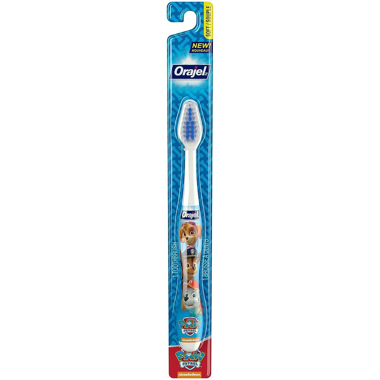 小人そして文Orajel ポウパトロール幼児の歯ブラシ