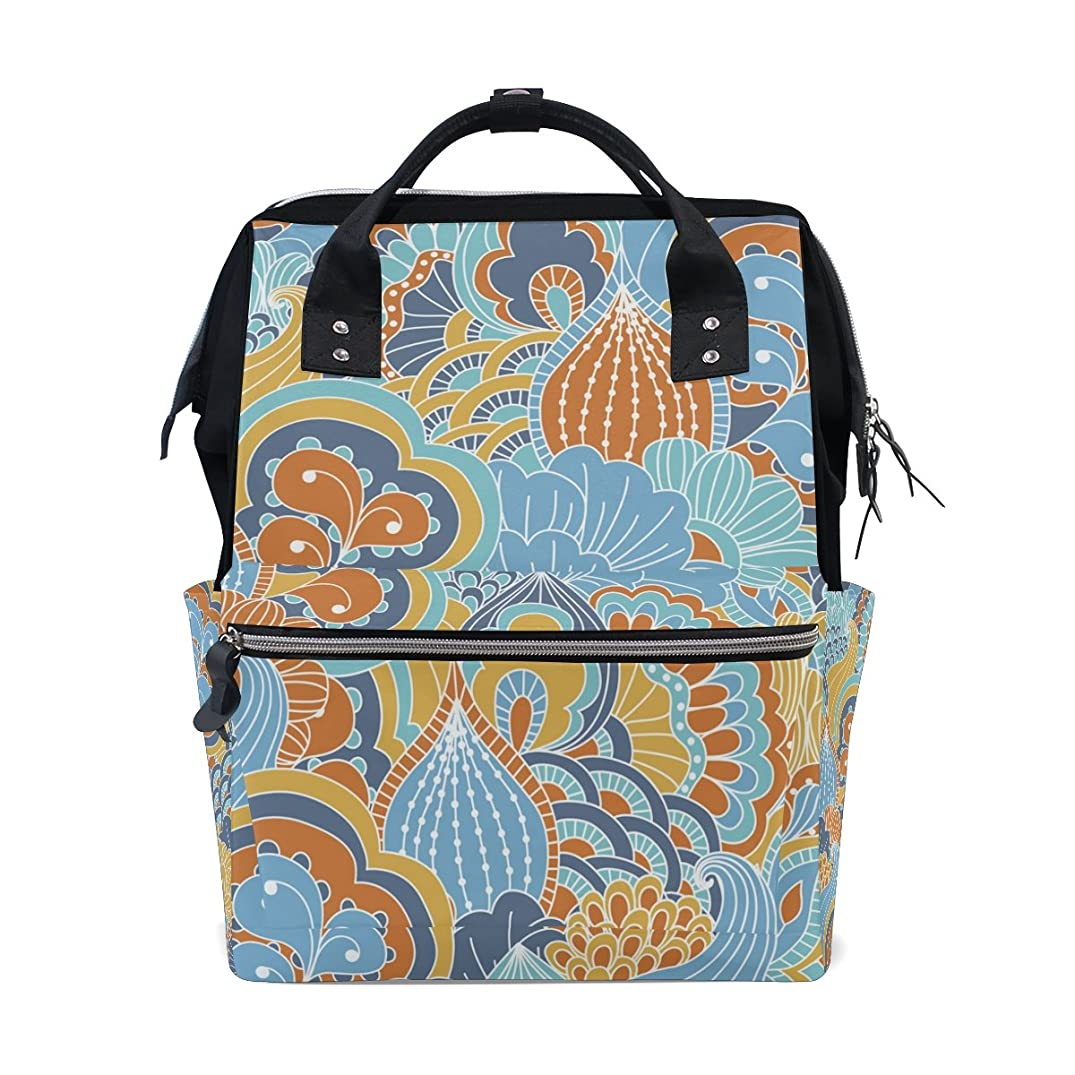 Diaper Bag Multi Functional Stylish Abstract Art Large Capacity Nappy Bags for Baby Care Mummy Backpack Durable Travel Backpack