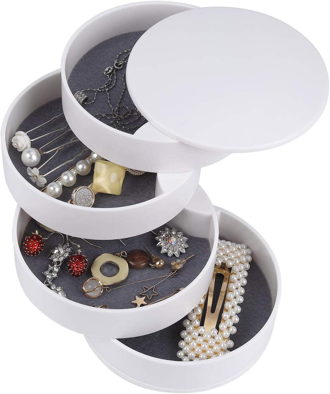 LGYKUMEG Super intense Cheap SALE Start SALE Jewelry Box Jewelcase from Rotation TAVOL 360 Degrees
