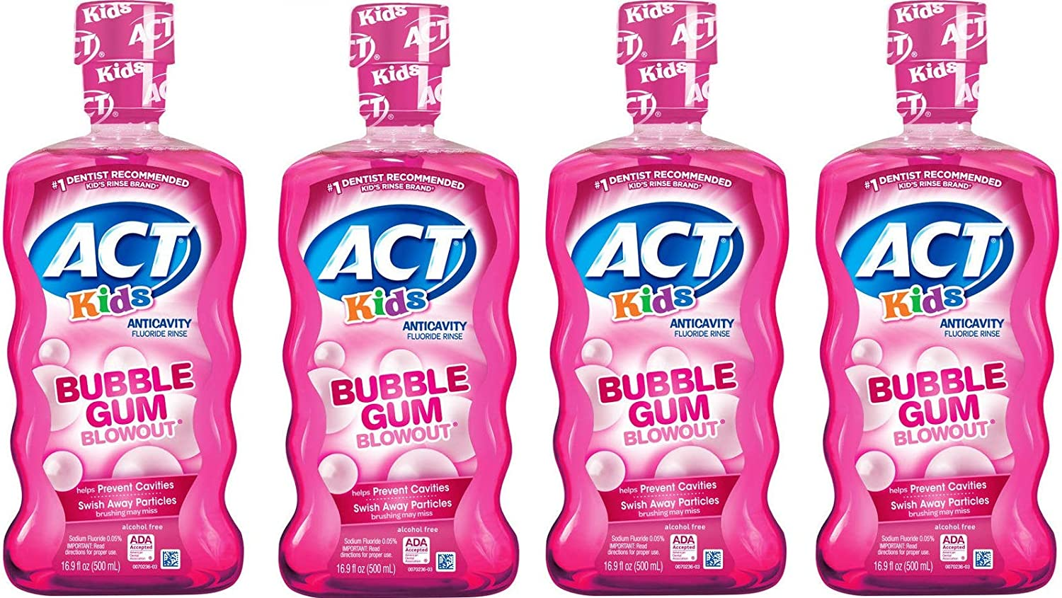 ACT Kids Anticavity Cash special price Fluoride Mouthwash Blow 16.9 Max 89% OFF Gum Bubble Out