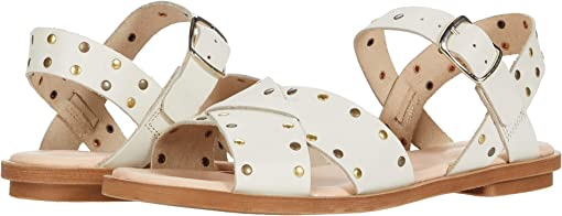 White Studded Leather