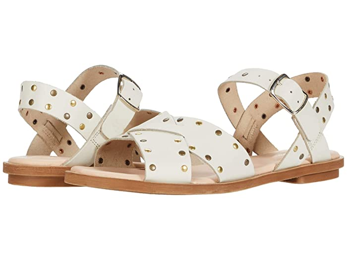 Clarks  Willow Gild (White Studded Leather) Womens Shoes