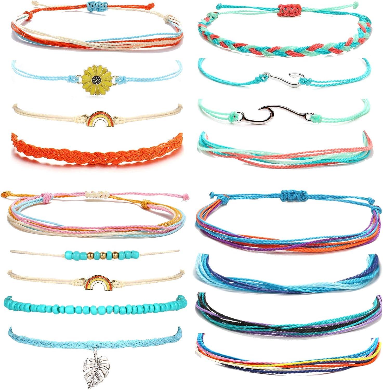 VSCO String Bracelets for Easy-to-use Teen Wave Girls Surfer Boho Fashionable