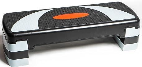 PRISP Verstelbare Aerobic Stepper 78cm - 3 Hoogtes (10/15/20 cm), Stepbankje Voor Thuisgym en Fitness Training, 78 x 28 cm